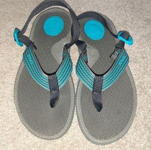 Teva Black Bomber Flip Flop Sandals